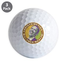 obama-laughingart flat Golf Balls