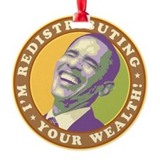 obama-laughingart flat Ornament