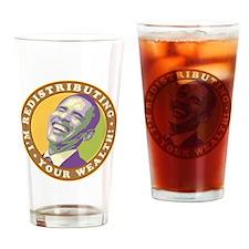 obama-laughingart flat Drinking Glass
