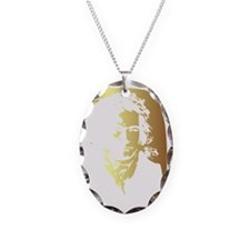 beethoven_lg Necklace Oval Charm