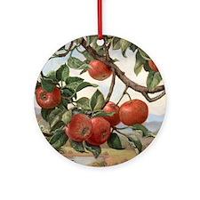 Apples_TILE Round Ornament