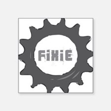"fixie_cog_Whiteback2 Square Sticker 3"" x 3"""