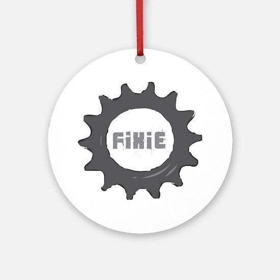 fixie_cog_Whiteback2 Round Ornament