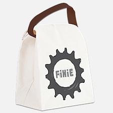 fixie_cog_Whiteback2 Canvas Lunch Bag
