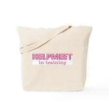 Helpmeet in training Tote Bag