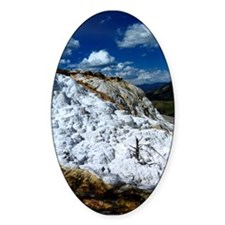 Mammoth Hot Springs Oval Decal
