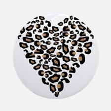 bengal-heart Round Ornament