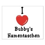 I Love Bubby's Hamentaschen Small Poster