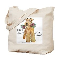 Bite Hard Airedale! Tote Bag