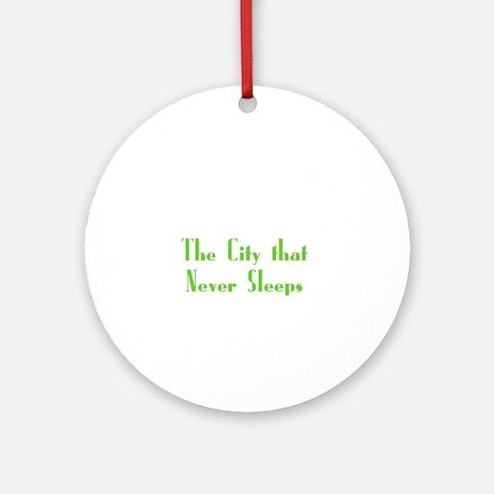 NewYork_10x10_apparel_USA_The City  Round Ornament