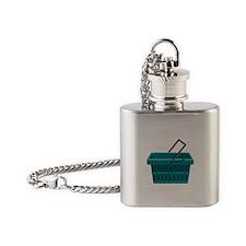 Shopping Basket Flask Necklace