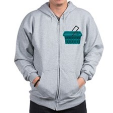Shopping Basket Zip Hoodie