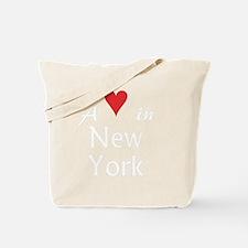NewYork_10x10_apparel_AHeartInNY_WhiteRed Tote Bag
