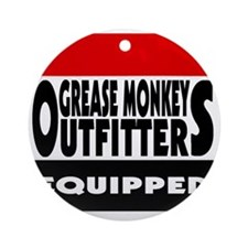 grease monkey outfitters t-shirt Round Ornament