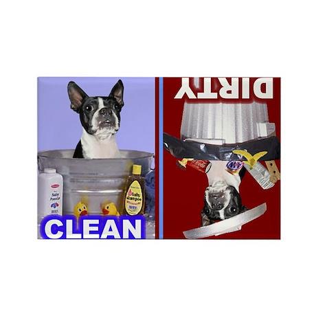 Dishwasher2 -RecMag -BostonTerrier,BlkWh Magnets