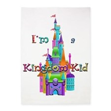 My Castle Im a Kingdom Kid Flipped 5'x7'Area Rug