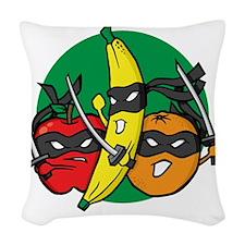ninjafruit Woven Throw Pillow