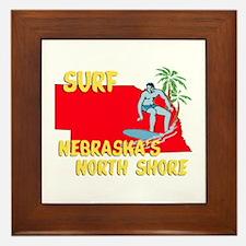 Surf Nebraska Framed Tile