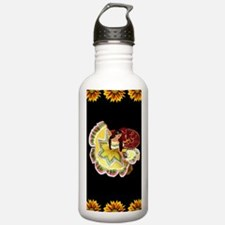 Dancer_sunflower_black Water Bottle