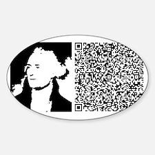 JEFFERSON_ENLIGHTEN_THE_PEOPLE Sticker (Oval)