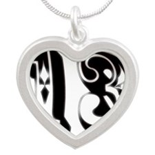 13--_ Silver Heart Necklace