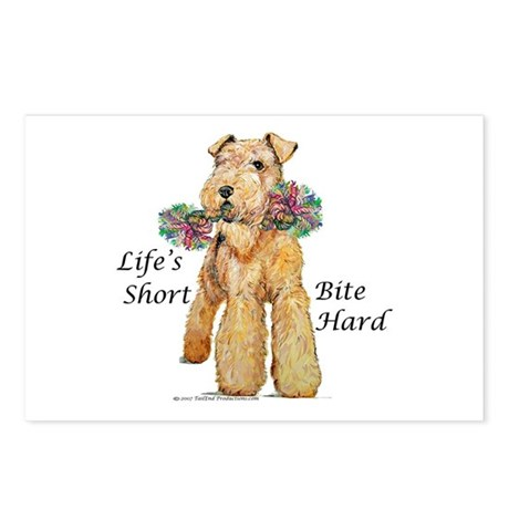 Bite Hard Airedale! Postcards (Package of 8)