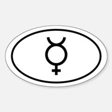 Planet Mercury Oval Decal