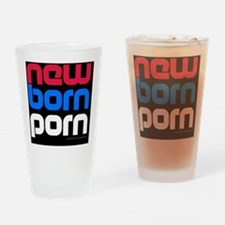 Serbian_sticker_oval Drinking Glass