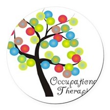 Occupational Therapist Tree bubbl Round Car Magnet