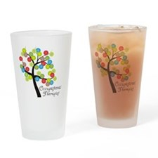 Occupational Therapist Tree bubbles Drinking Glass