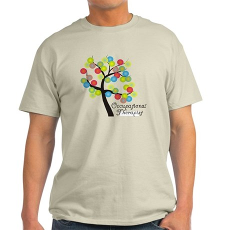 Occupational Therapist Tree bubbles Light T-Shirt