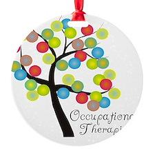 Occupational Therapist Tree bubbles Ornament
