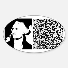 JEFFERSON_CLOSER_TO_TRUTH Sticker (Oval)