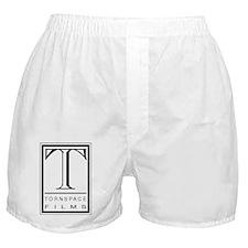 Tornspace Films Logo - Black on Trans Boxer Shorts