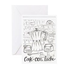 cafe con leche Greeting Card