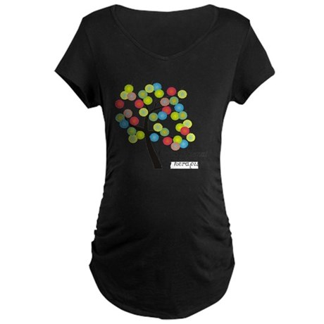 Occupational Therapist Tree Maternity Dark T-Shirt