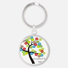 OT Assistant TREE BUBBLES Round Keychain