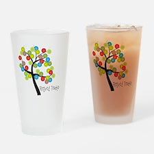 Retired Teacher Tree bubbles Drinking Glass