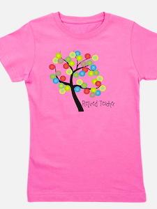 Retired Teacher Tree bubbles Girl's Tee