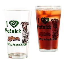 Patrick Celtic Love copy Drinking Glass