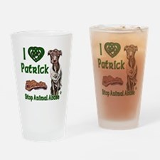 Patrick Celtic Love copy Drinking Glass