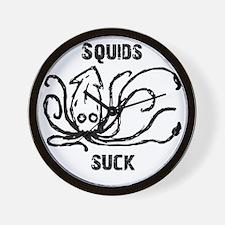 Squids Suck Wall Clock