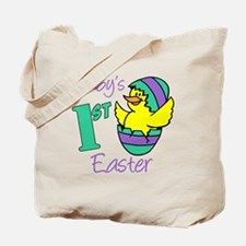 Babys First Easter Shirt Tote Bag