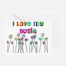 I love my Busia Greeting Card