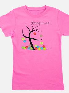 Retired Principal tree bubbles Girl's Tee