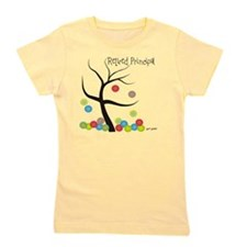 Retired Principal tree bubbles Girl's Tee