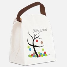 Retired Librarian Tree Bubbles Canvas Lunch Bag
