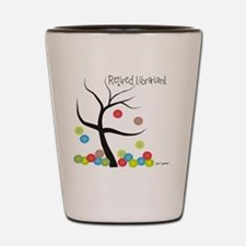 Retired Librarian Tree Bubbles Shot Glass