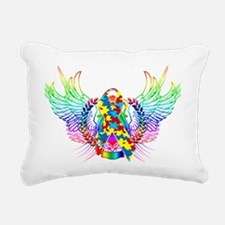 Awareness Tribal Puzzle  Rectangular Canvas Pillow