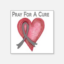 """Pray for a cure 2 Square Sticker 3"""" x 3"""""""